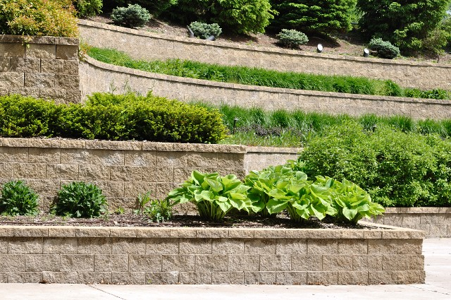 Back Yard | Wall Design Retaining Services - North Carolina