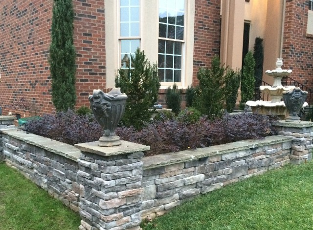 Front Yard | Wall Design Retaining Services - North Carolina